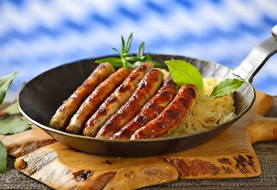 Lassen Sie sich die Spezialitäten der fränkischen Küche schmecken!