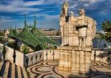 Rundreise entlang Ungarns Highlights, Budapest, Freiheitsbrücke, Gellértberg
