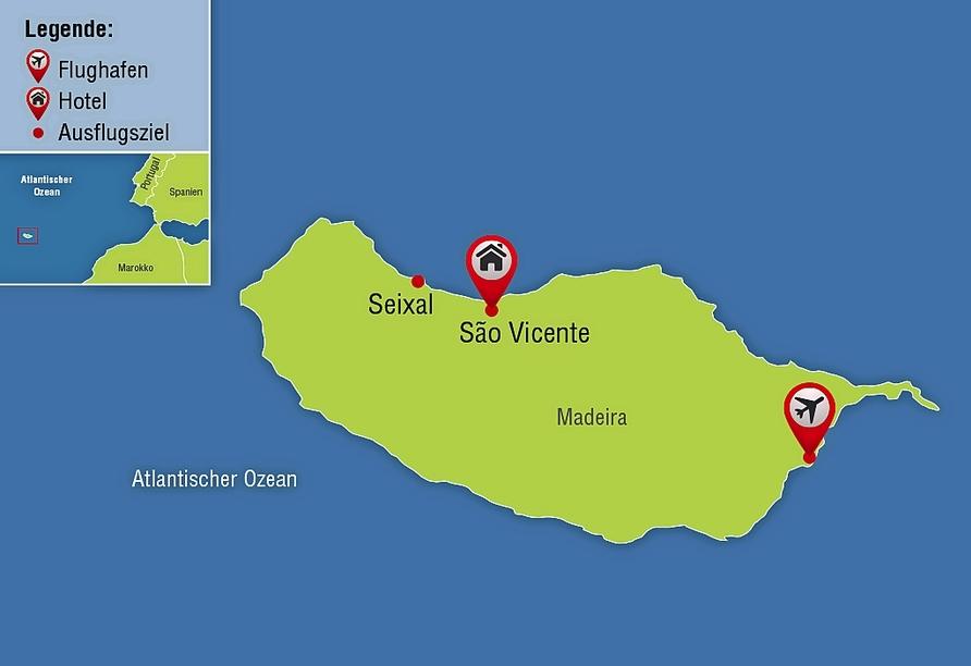 Hotel Estalagem do Mar in São Vicente, Reisezielkarte