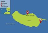 Individuell den Norden Madeiras entdecken, Reisezielkarte