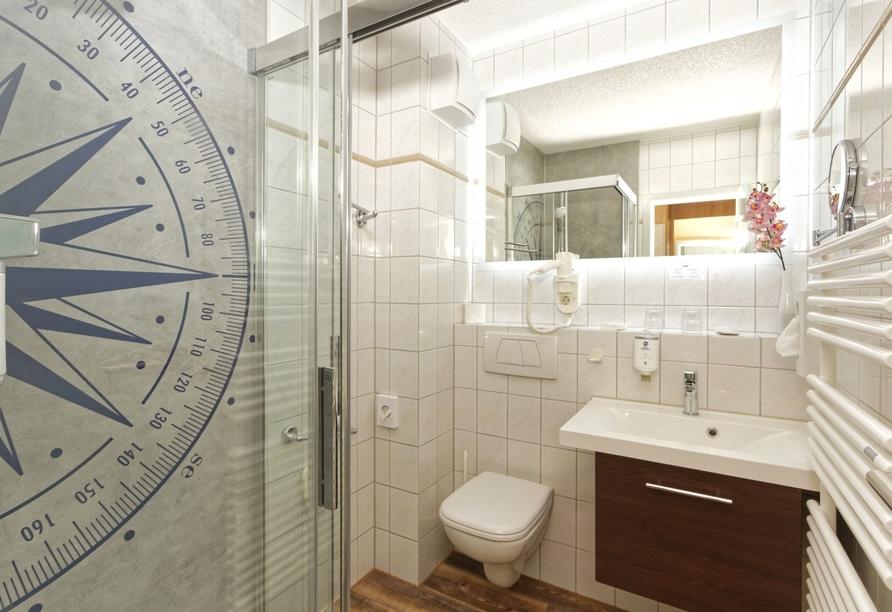 Beispiel für ein Badezimmer im Best Western Hotel Hanse Kogge.