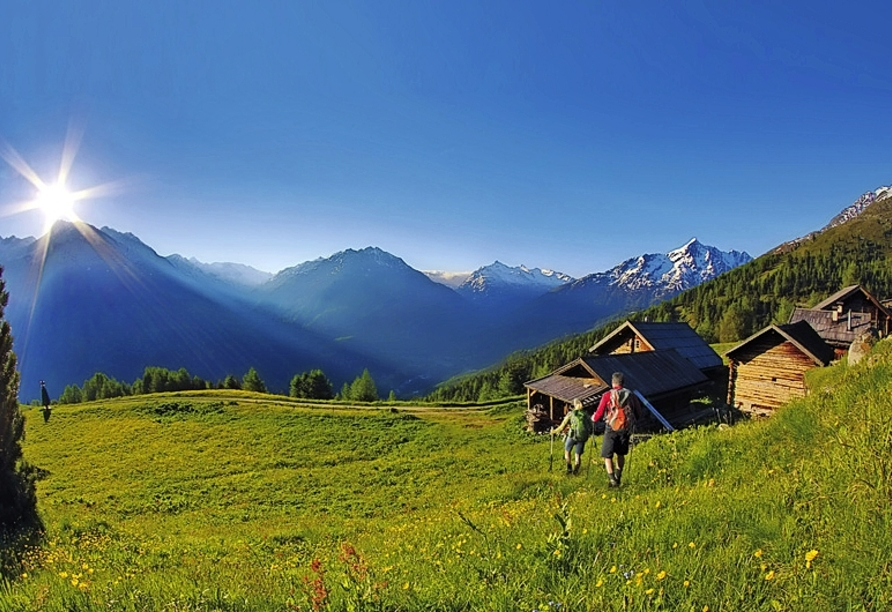 Aktivhotel Waldhof in Oetz, Tirol, Wanderung