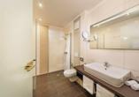 Beispiel eines Badezimmers im Vitalhotel Sonneck