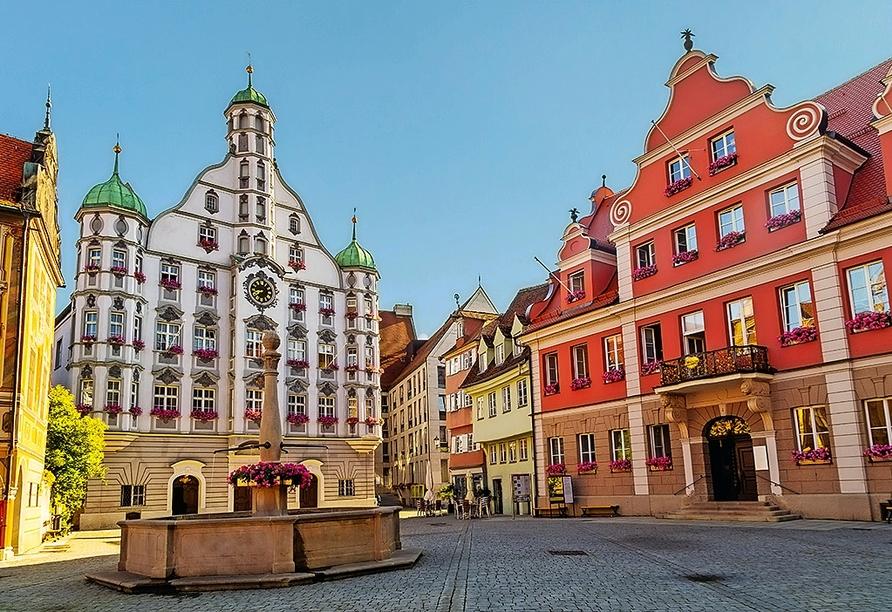 Ein Ausflug in die nahegelegene Stadt Memmingen lohnt sich.