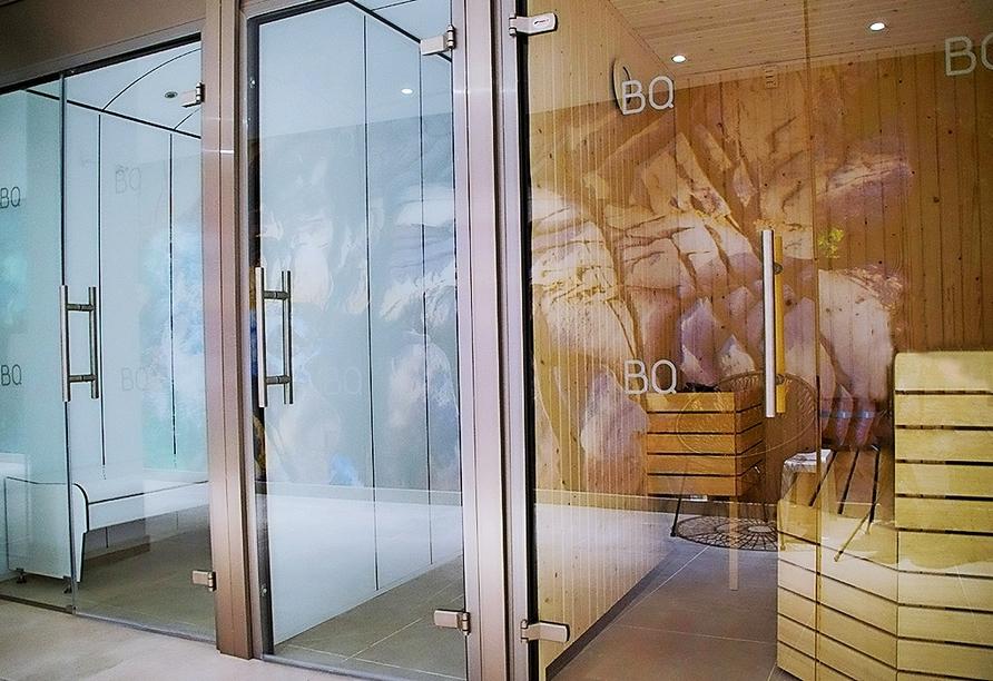 Entspannung finden Sie im türkischen Dampfbad und in der Sauna.