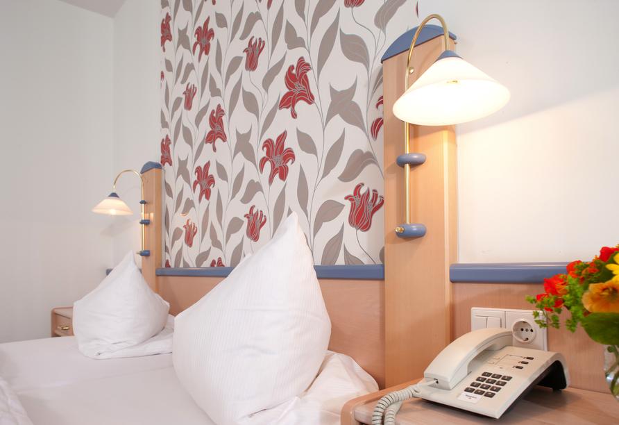 Beispiel eines Doppelzimmers im Behringers Freizeit- & Tagungshotel