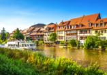 Die ehemalige Fischersiedlung in der Bamberger Inselstadt wird liebevoll