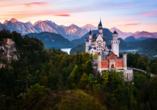 Die Königsschlösser Neuschwanstein und Hohenschwangau sind gut zu erreichen.
