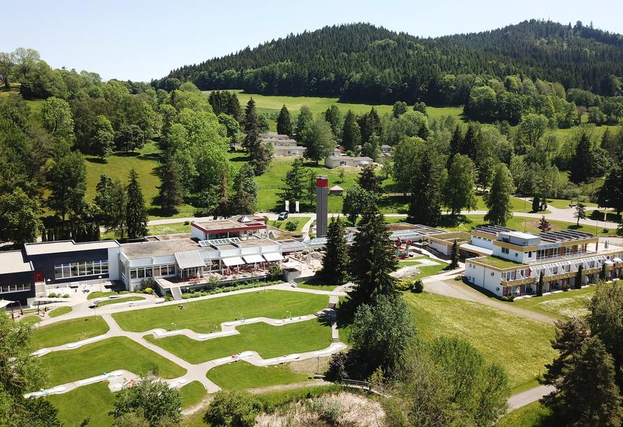 Das Gelände des Ferienclub Maierhöfen ist insgesamt 45 ha groß.