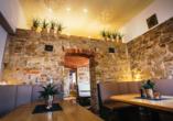 Mit regionalen Spezialitäten werden Sie im Restaurant verwöhnt.