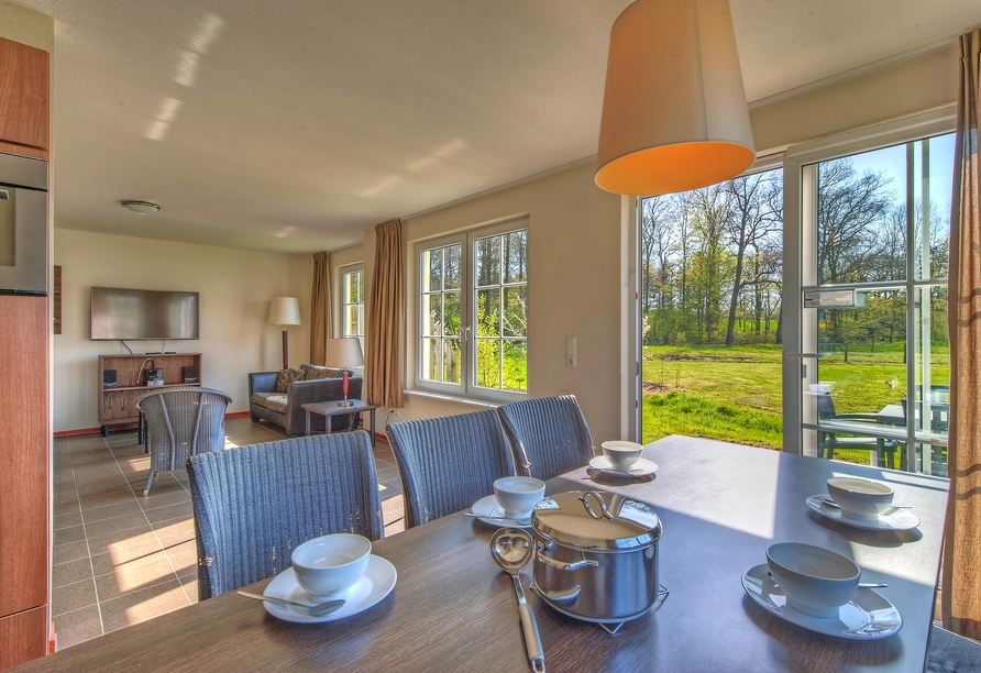 Roompot Ferienresort Bad Bentheim, Beispiel Wohnzimmer BBL6A