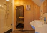 Roompot Ferienresort Bad Bentheim, Beispiel Badezimmer BBL6A