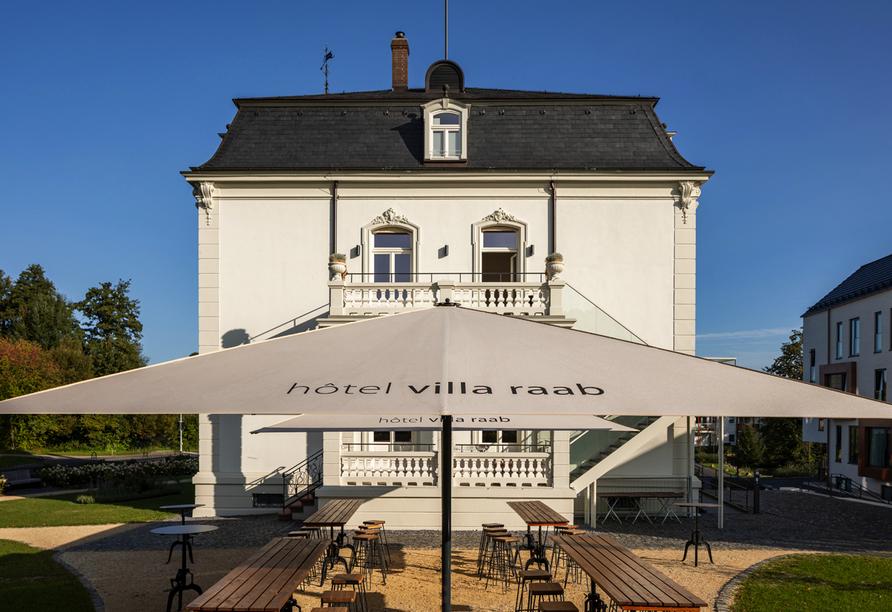 Hotel villa raab in Alsfeld, Biergarten