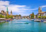 Herzlich willkommen zu Ihrem Kurzurlaub in Zürich!