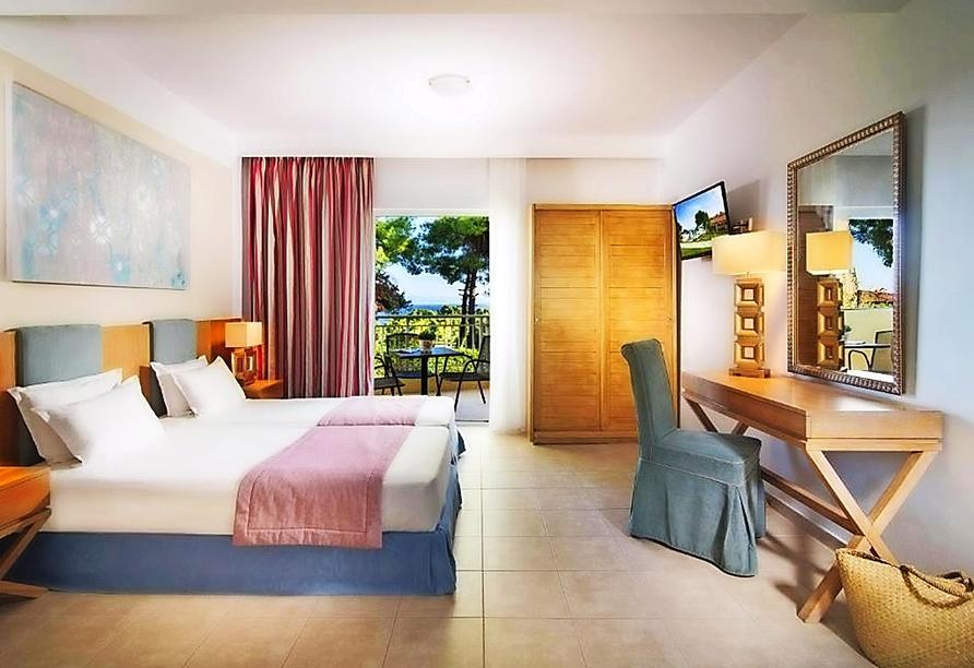 Beispiel eines Studios mit Doppelbett im Hotel Alkion Resort