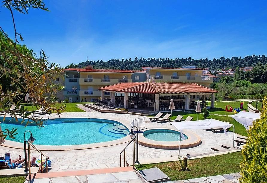 Genießen Sie Ihre Auszeit im Hotel Alkion Resort.