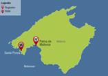 Club Santa Ponsa, Karte