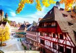 Die Nürnberger Altstadt ist mit ihren Fachwerkhäusern besonders schön.