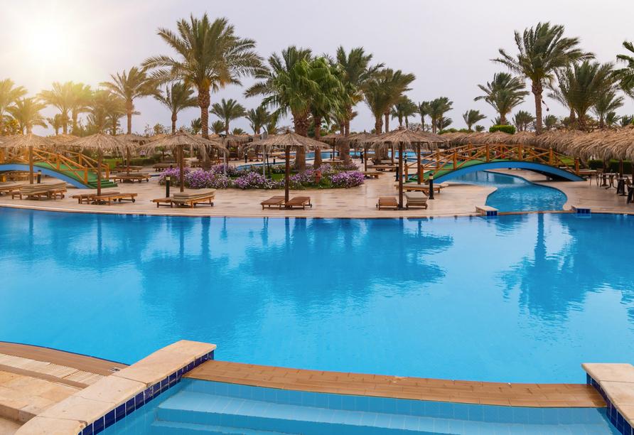 Nil Highlights & Badurlaub in Hurghada, Außenpool