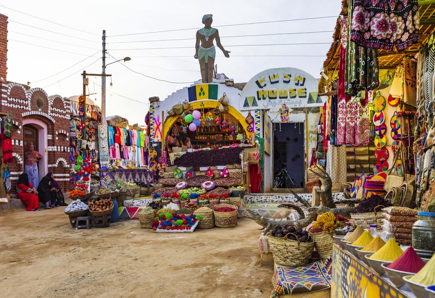 Nil Highlights & Badurlaub in Hurghada, Assuan nubisches Dorf