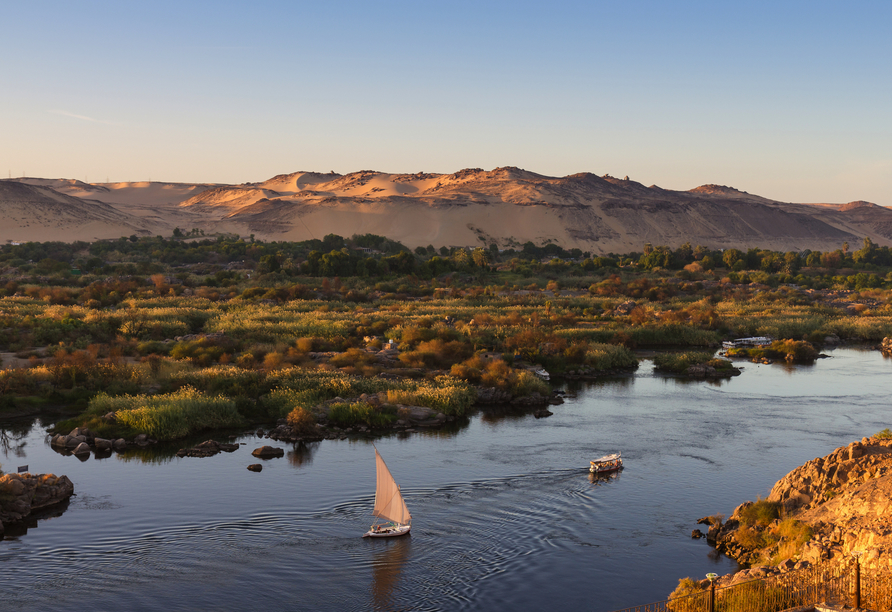 Nil Highlights & Badurlaub in Hurghada, Assuan Bootsfahrt