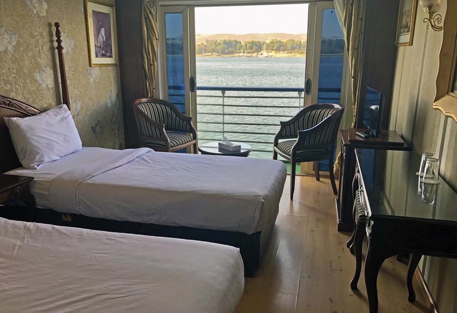 Entdeckerreise Nil, Beispielkabine Haupt-/Nildeck Beispiel Schiff