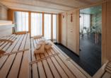 In der hoteleigenen Sauna können Sie Körper und Geist entspannen.