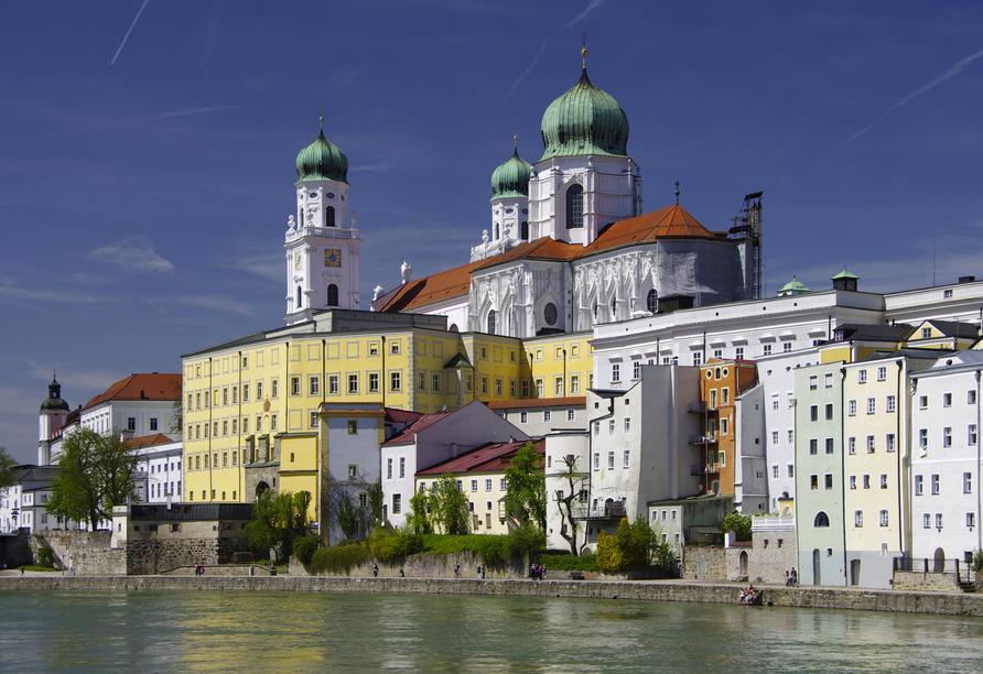 Die Historische Altstadt von Passau mit dem Dom