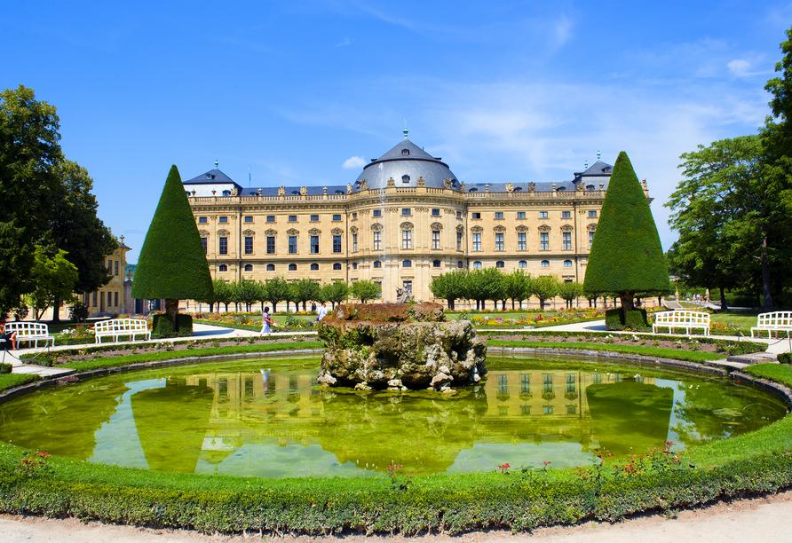 Nehmen Sie sich Zeit, um die Würzburger Residenz in Ruhe zu bestaunen.