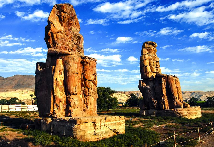 Entdeckerreise Nil, Memnonkolosse, Luxor