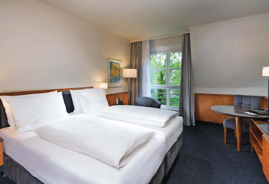 Seminaris Hotel Leipzig, Beispiel eines Doppelzimmers