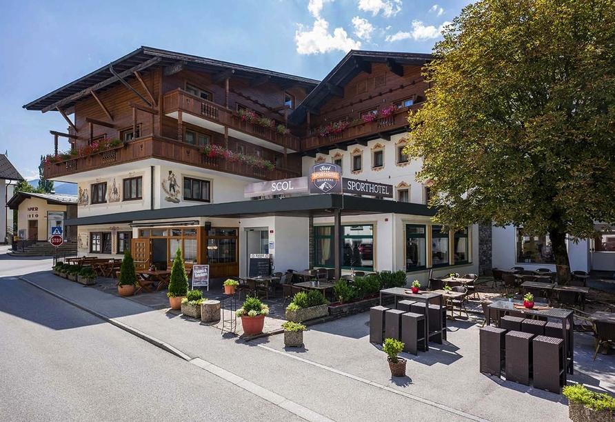 SCOL Sporthotel Zillertal, Außenansicht Hotel