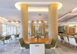 Lassen Sie sich im Restaurant des Hotels San Panteleimon kulinarisch verwöhnen.