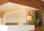 Rezeption des Hotels San Panteleimon in Platamonas