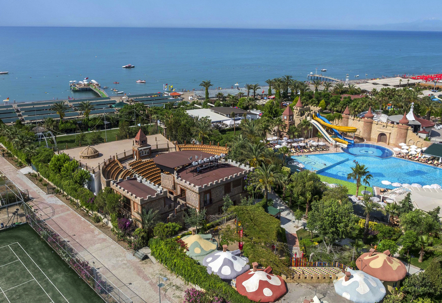 Hotel Belek Beach Resort, Hotelanlage Meerblick