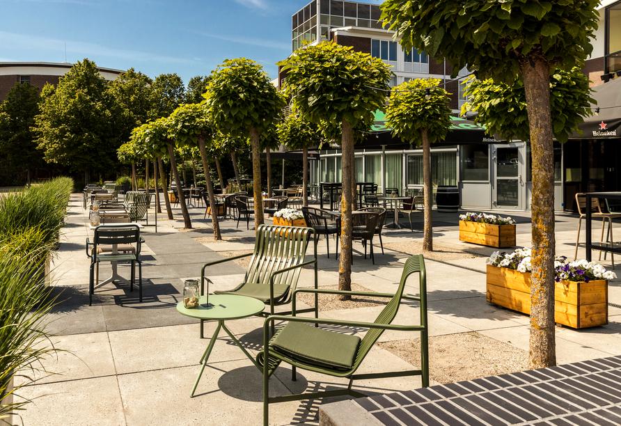 Entspannen Sie auf den Terrassen des Hotels.