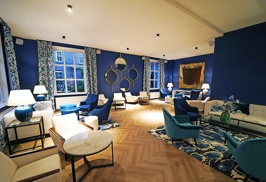 Ihr Hotel erwartet Sie mit gemütlichem, modernem Ambiente.