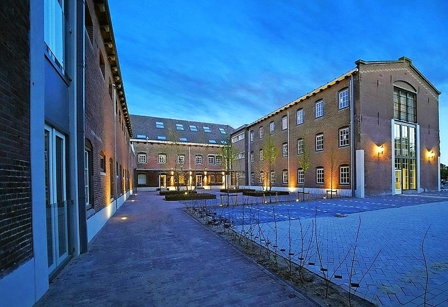 Das Hotel entstand aus einem ehemaligen Gefängnisgebäude und wurde komplett umgebaut.