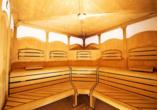 In der Finnischen Sauna des Hotels können Sie sich erholen.