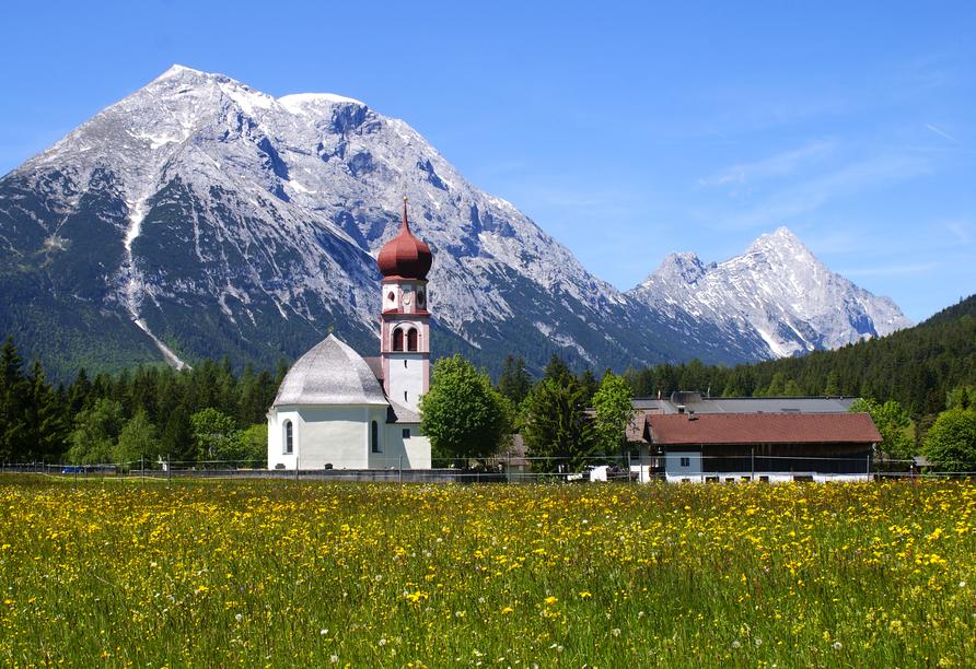 Sporthotel Xander, Leutasch, Österreich, Kirche Leutasch