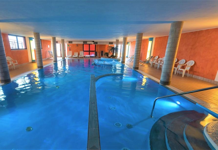 Hotel Belvedere, San Zeno di Montagna, Italien, Hallenbad