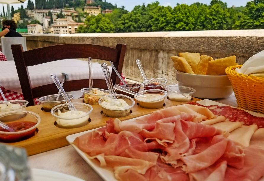 Hotel Belvedere, San Zeno di Montagna, Italien, Antipasti