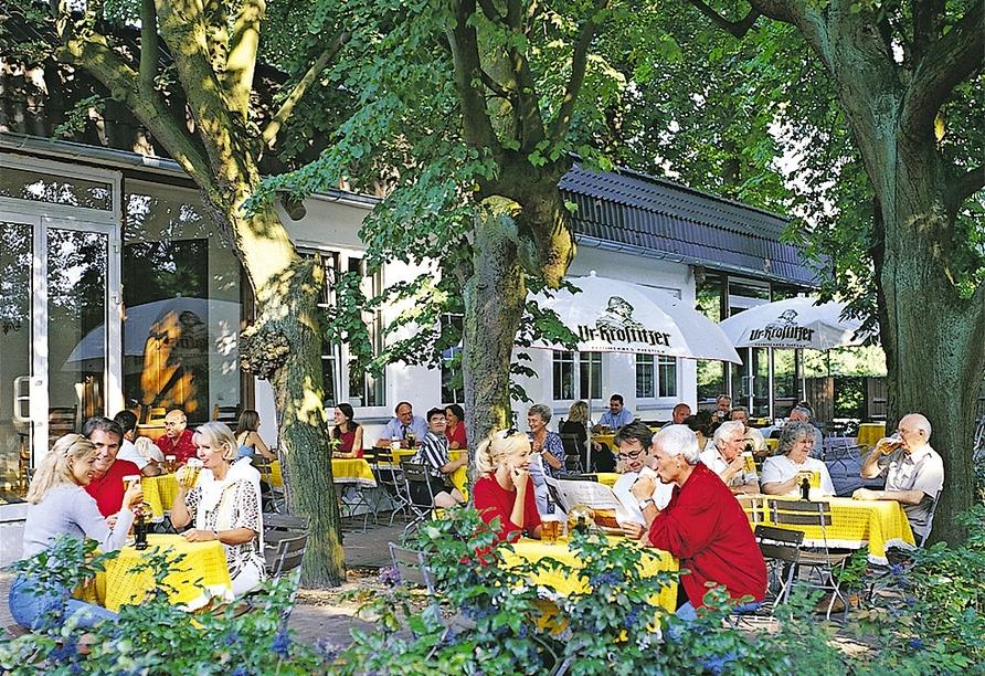 MORADA Hotel Isetal in Gifhorn, Biergarten