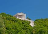 Die Gedenkstätte Walhalla thront über Ihrem Urlaubsort Donaustauf.