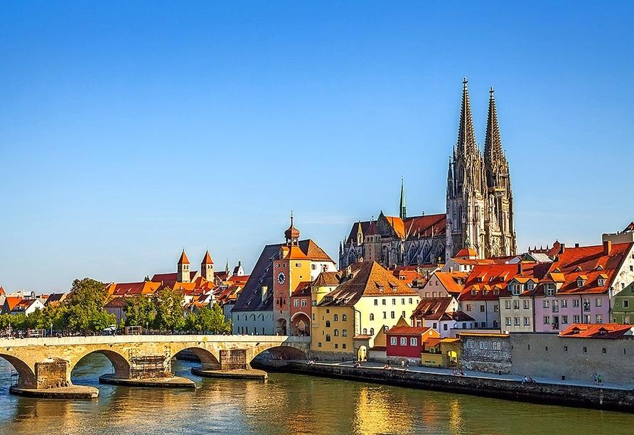 Die mittelalterliche Stadt Regensburg erwartet Sie!