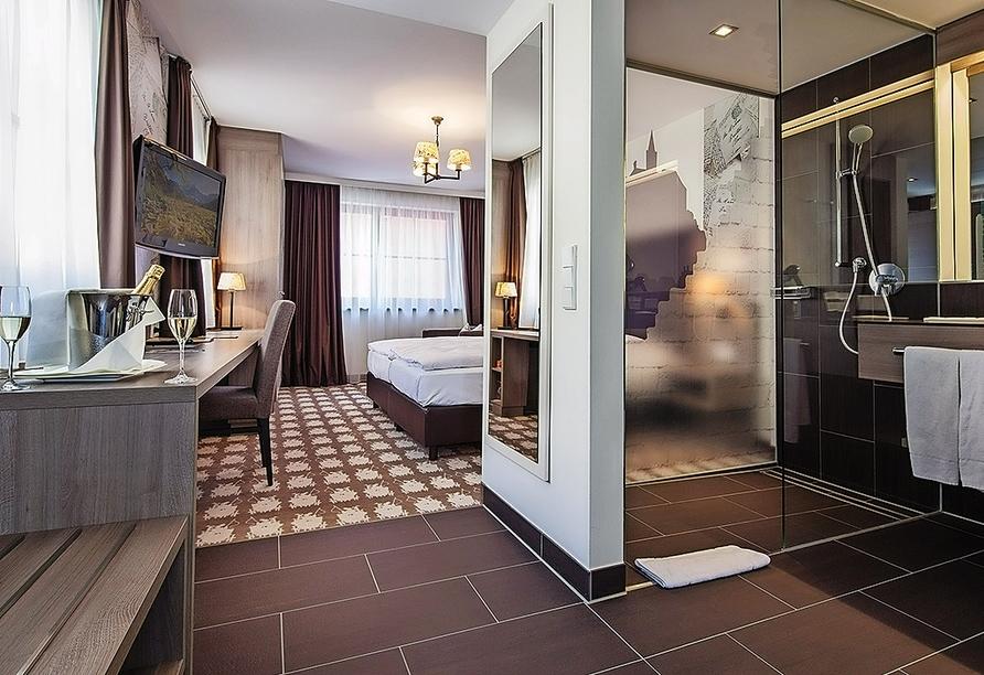 Beispiel eines Doppelzimmers Deluxe im Forsters Posthotel