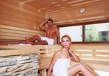 Entspannen Sie in der Sauna des Forsters Posthotels.