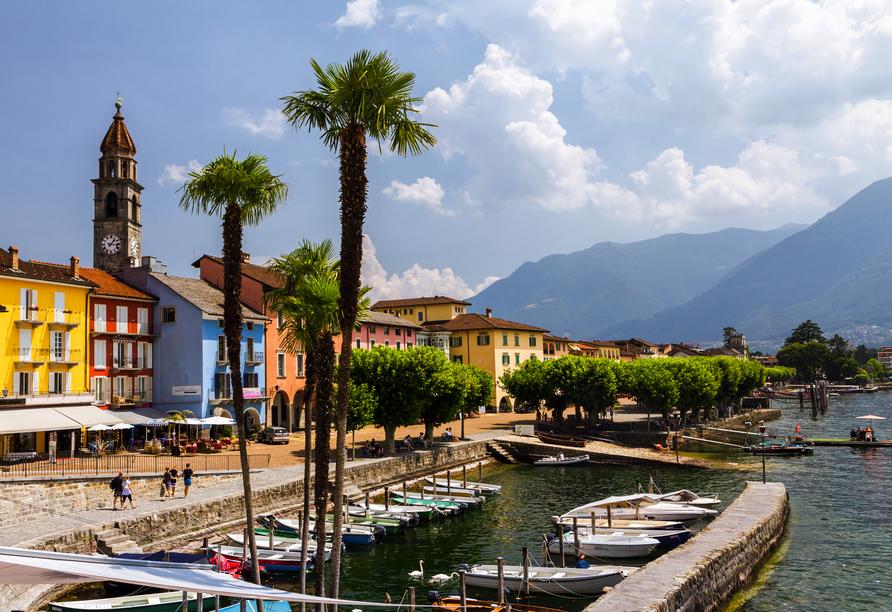 Hotel Polo in Ascona, Schweiz, Promenade Ascona