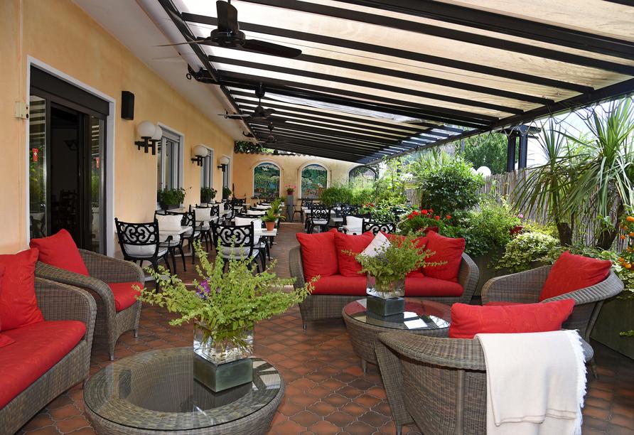 Hotel Polo in Ascona, Schweiz, Terrasse