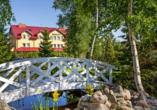 Ferienhäuser Bernstein Kur- & Wellnesszentrum in Dabki-Bobolin, Ferienanlage von außen